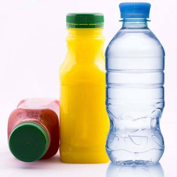 100% Fruit Juice, Bottled Water